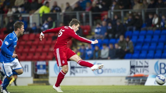 Peter Pawlett scores against St Johnstone