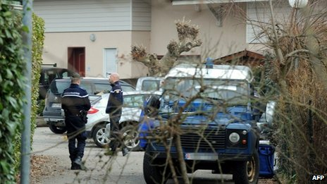 Police search in Talloires