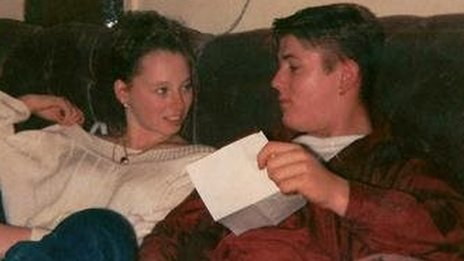 A photograph of Kris Jarvis and his fiancée Tracey Fidler when they first met