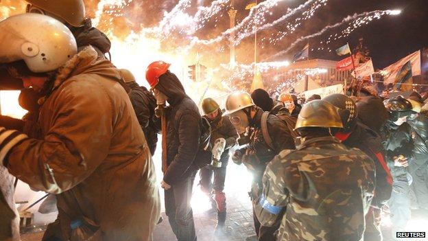 Ukraine protesters