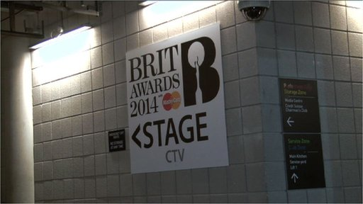 Backstage tour of the Brits