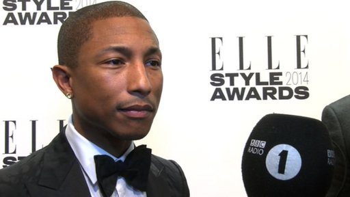 Pharrell at the Elle Style Awards