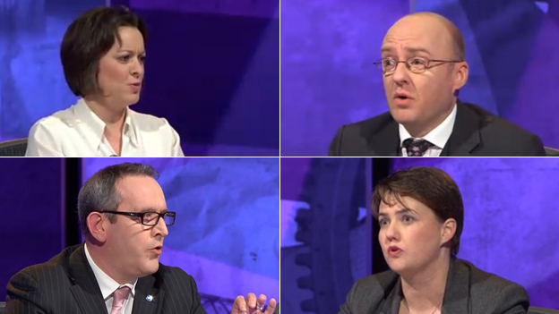Jenny Marra, Patrick Harvie, Stewart Hosie and Ruth Davidson