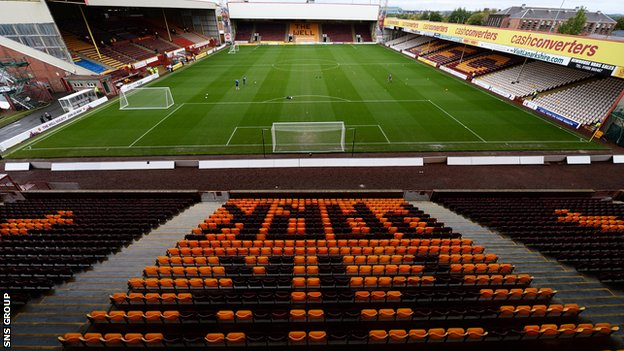 Fir Park, home of Motherwell FC