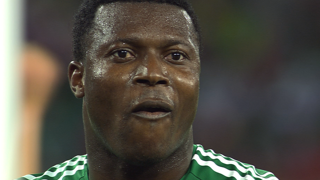 Yakubu misses an open goal against South Korea