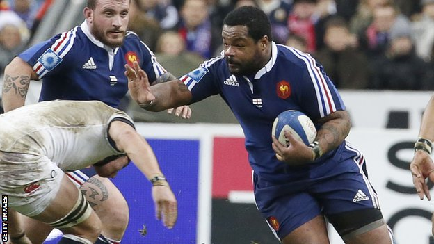 France's Mathieu Bastareaud in action against England