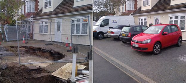 The difference a year makes: the Coldham family has returned to their home in Grays after the crater was filled