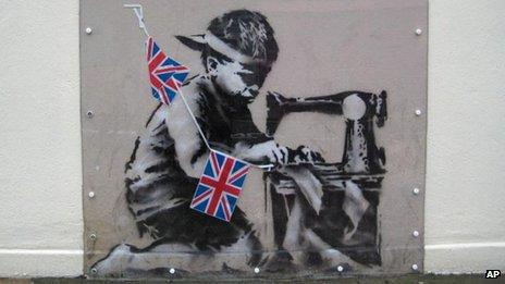 Slave Labour (Bunting Boy) by Banksy