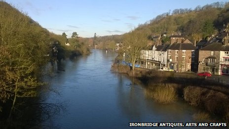 View of the River Severn at Ironbridge