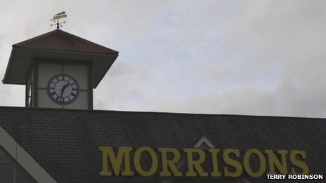 Morrisons supermarket sign