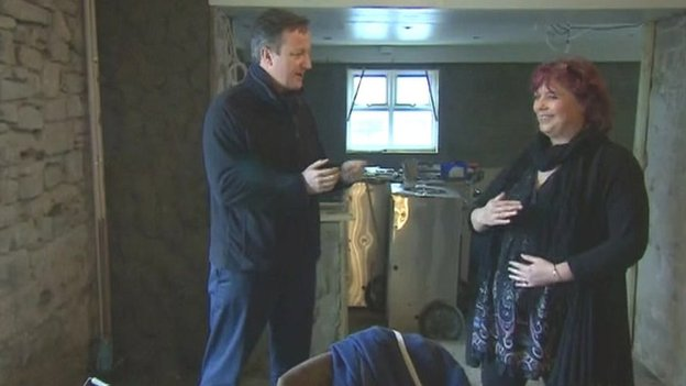 David Cameron in Duke of Edingburgh pub, Newgale