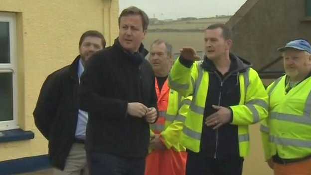 David Cameron in Newgale