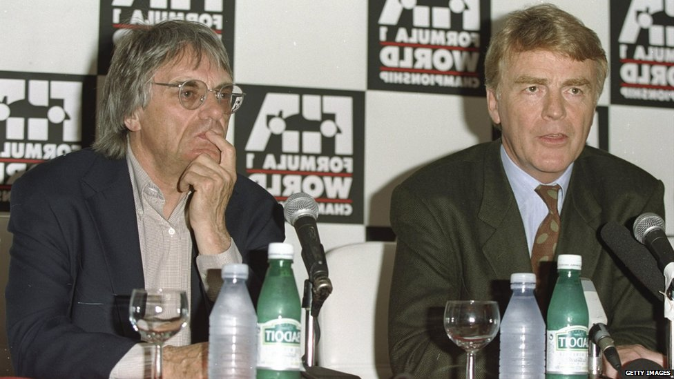 Bernie Ecclestone and Max Moseley