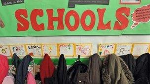 School cloakroom