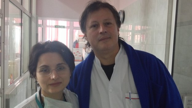 Dr Marian Martin and Dr Cristian Posea