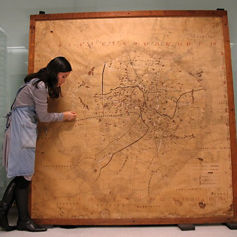"Yuki Uchida conserves the 74-year-old ""delicate"" map"