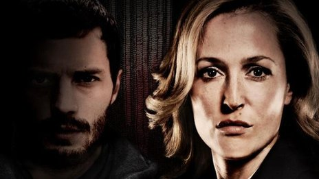 Jamie Dornan and Gillian Anderson in The Fall