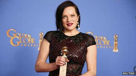 Elisabeth Moss at the Golden Globes