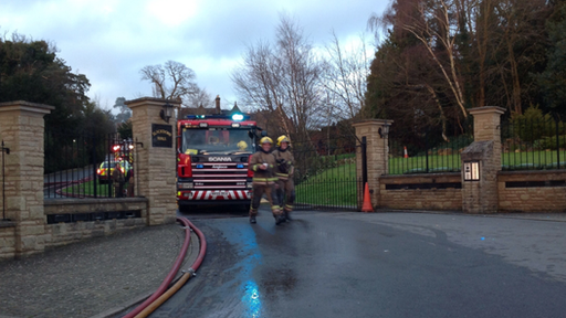 It is understood the fire at Blackdown Hall in Leamington, started on the first floor