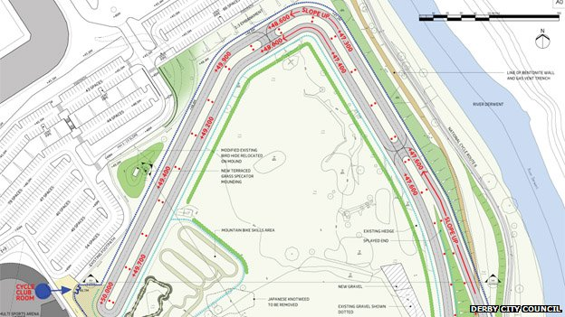 Map of proposed cycle track at The Sanctuary