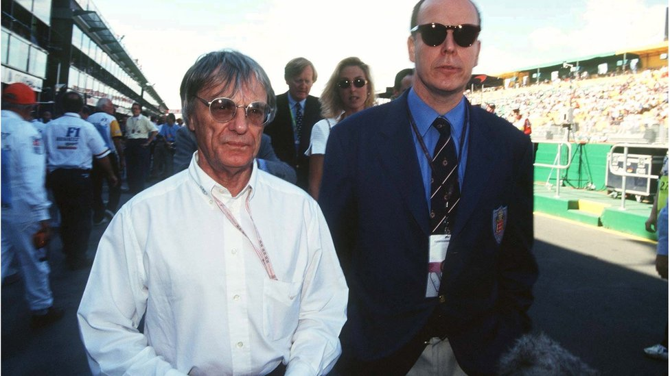 Bernie Ecclestone and Prince Albert of Monaco