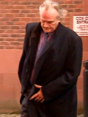 Clive Mantle leaving Newcastle Crown Court