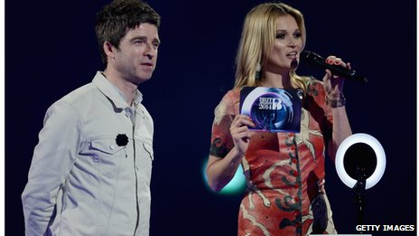 Noel Gallagher and Kate Moss