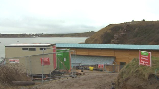 RNLI facilities being built at Porthdinllaen