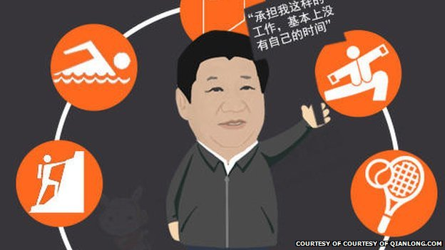 Graphic of Xi Jinping published on a website