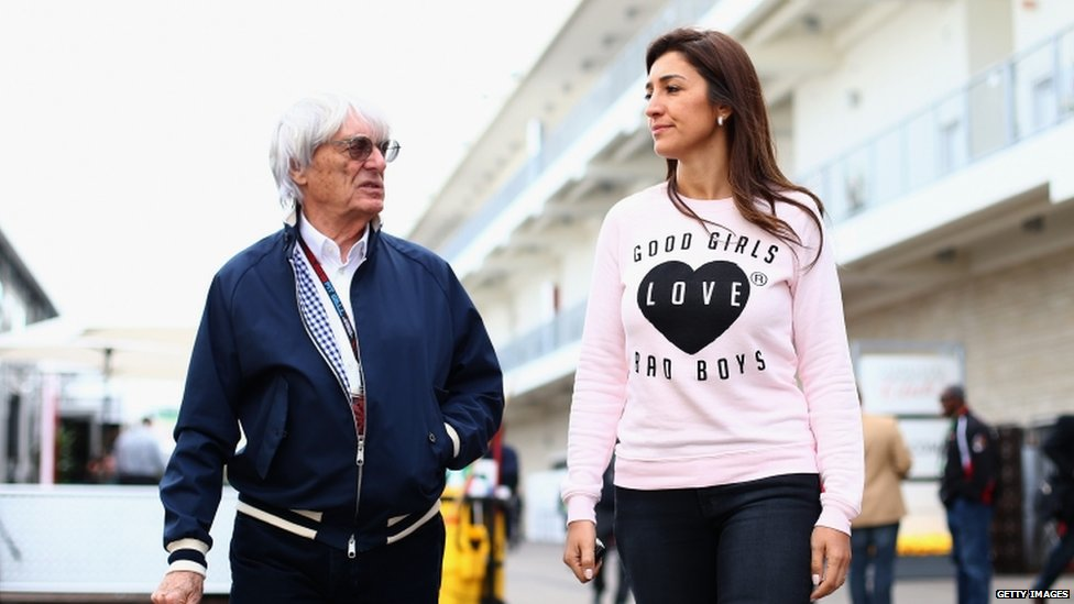 Bernie Ecclestone with wife Fabiana