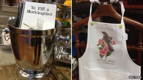 To Kill a Mockingbird souvenirs at Monroe County Heritage Museum