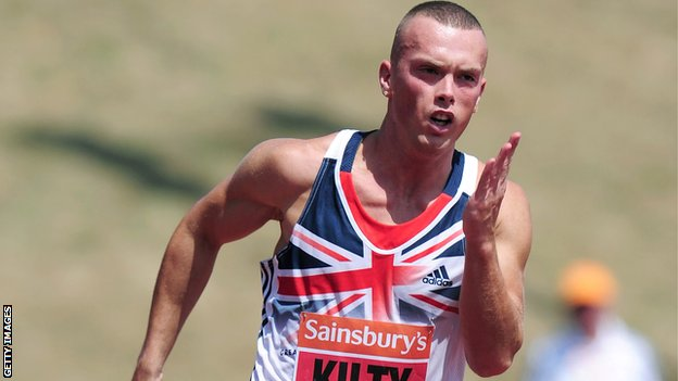 Great Britain sprinter Richard Kilty