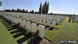 The Tyne Cot cemetery in Belgium