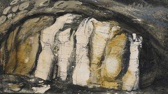 Rock Formations (c1948) gan John Piper