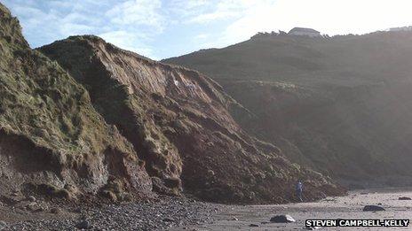 Rhossili landslide
