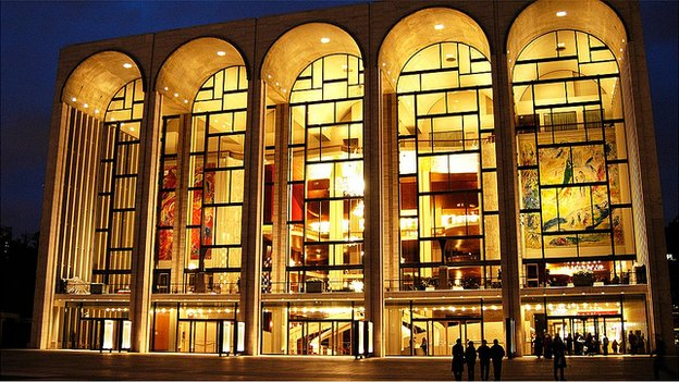 Exterior of The Metropolitan Opera House, New York