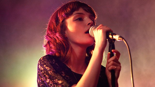 Lauren Mayberry, lead singer with Chvrches