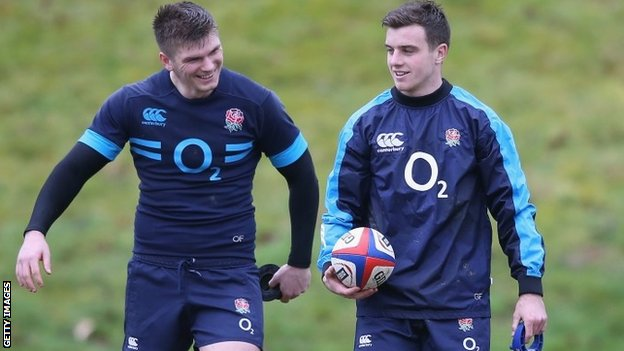 England duo Owen Farrell (left) and George Ford