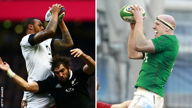 Courtney Lawes and Paul O'Connell