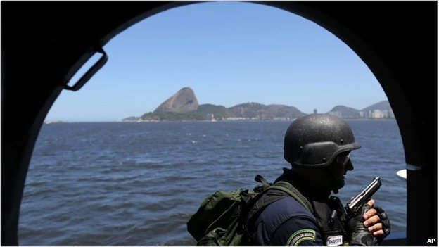 Naval exercise in Rio ahead of 2014 World Cup