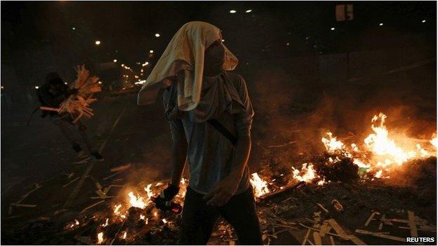 Protester in Venezuela
