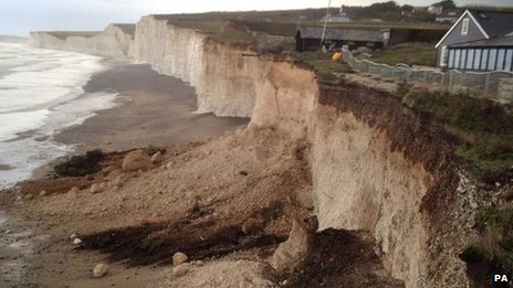 Erosion at Birling Gap in East Sussex