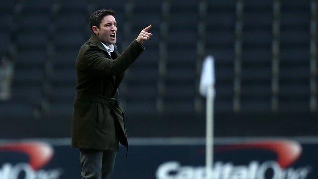 Oldham manager Lee Johnson