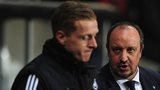 Swansea boss Garry Monk and Napoli boss Rafa Benitez