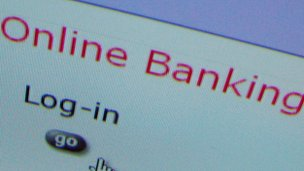 Online bank login screen
