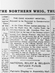 The Northern Whig outlines the case against Wentzel