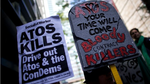 Protest against Atos in 2012