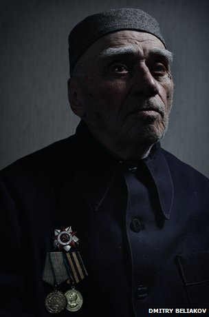 Shadiyev wearing his medals