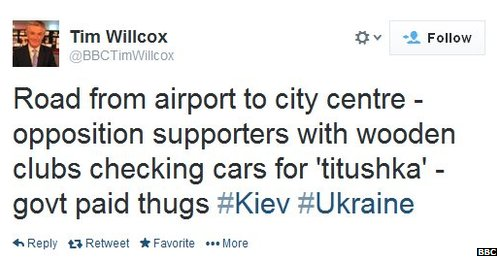 Tin Wilcox tweets about fears protesters have that civilian 'thugs' are helping security forces