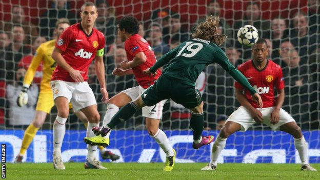 Modric scores against Man Utd in the Champions League